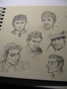 Inspired by Charles Denner, Jean-Paul Belmondo, and in the bottom left corner: Jean-Pierre Léaud